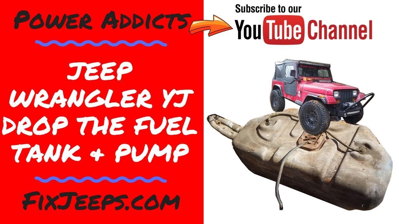 Jeep Wrangler YJ Fuel Tank Removal