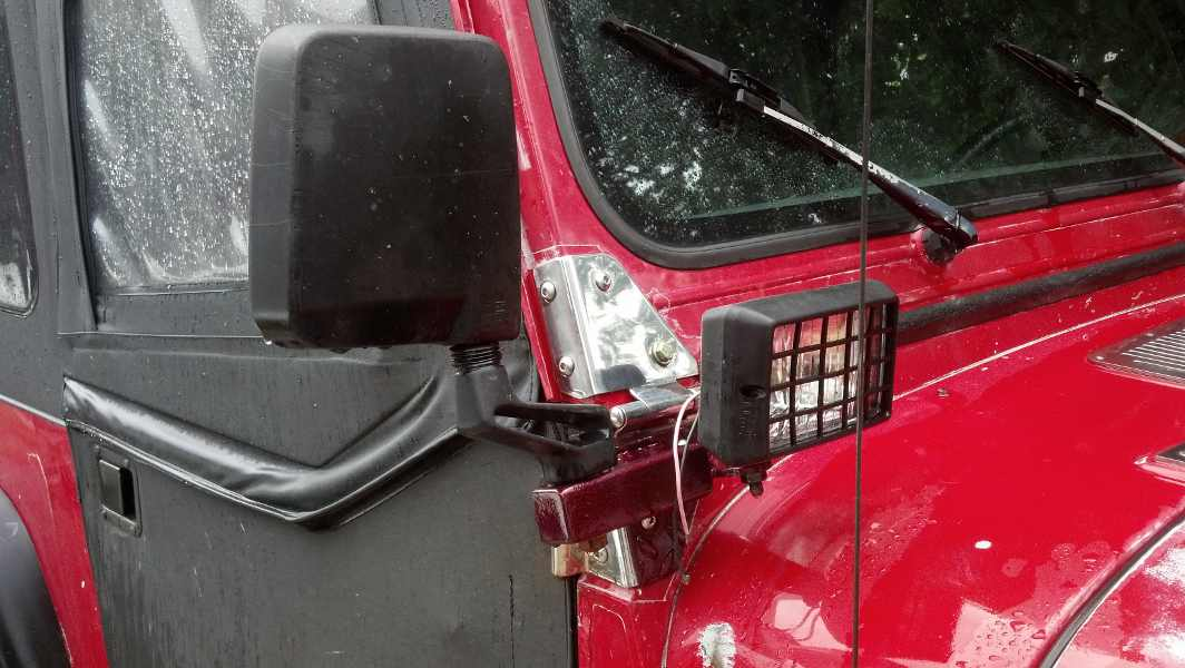 Jeep Mirror Relocation