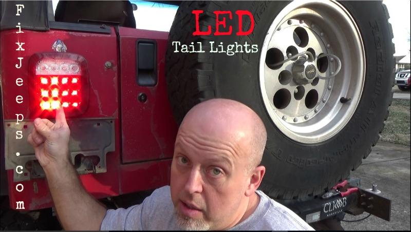 Jeep Wrangler YJ LED Tail Light upgrade
