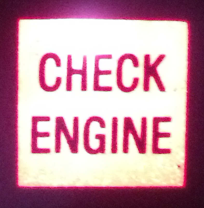 Jeep check engine light