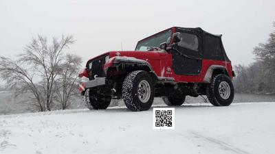 My YJ posing in the snow
